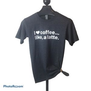 Love coffee graphic Anvil tee small